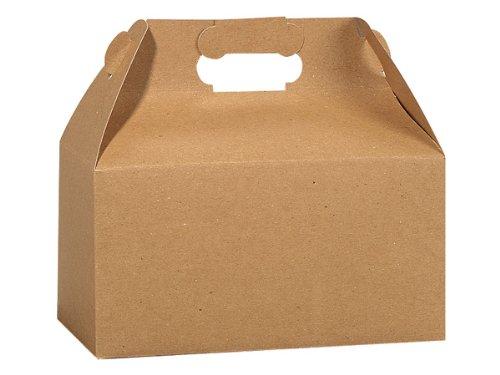 Kraft recyceltem Giebel boxes9-1/5,1x 12,7x 12,7cm 100% Recycling 100Stück
