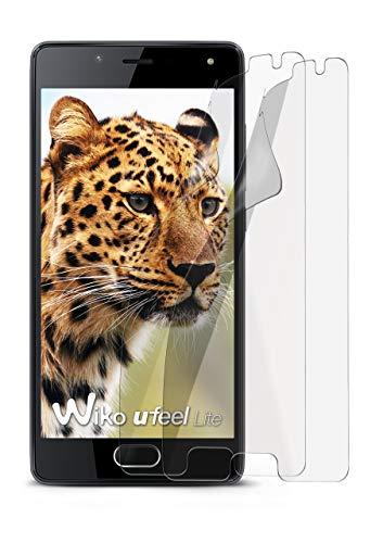2X Wiko U Feel Lite | Schutzfolie Matt Display Schutz [Anti-Reflex] Screen Protector Fingerprint Handy-Folie Matte Displayschutz-Folie für Wiko U Feel Lite Displayfolie