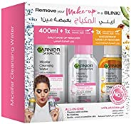 Garnier Micellar Cleansing Water and Water in Oil Makeup Remover - (400 ml + 100 ml+ 100 ml)