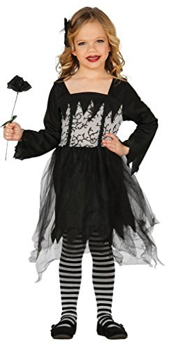 Fancy Me Mädchen Gothik Puppe Tot Braut Hexe Schwarze Witwe Halloween Kostüm Kleid Outfit 3-9 - 5-6 Years (Halloween-outfit Tote Braut)
