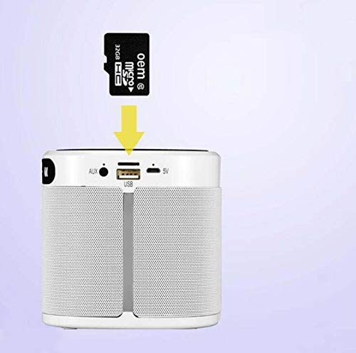 CE-LXYYD E201 tragbare drahtlose Lade-Bluetooth-Lautsprecher, tragbare Mini Outdoor kreative Karte Bluetooth Audio mit Ladefunktion,White