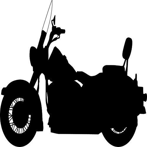 zhuziji Wandtattoo Vinyl Aufkleber Schlafzimmer Motorrad Kawasaki Cruiser Roadglide Pinturas Murais Abnehmbare PVC Wohnzimmer Wallpap Kaffee Farbe 54x33cm -