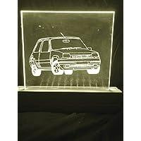Lampada Renault 5 GT Turbo (Blu Rosso Verde Bianco Giallo, Art Deco)