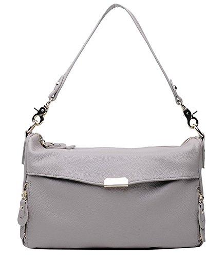 SAIERLONG Neues Damen Grau Erste Schicht Aus Leder Umh?ngetaschen Schultertaschen Messenger Bag Grau