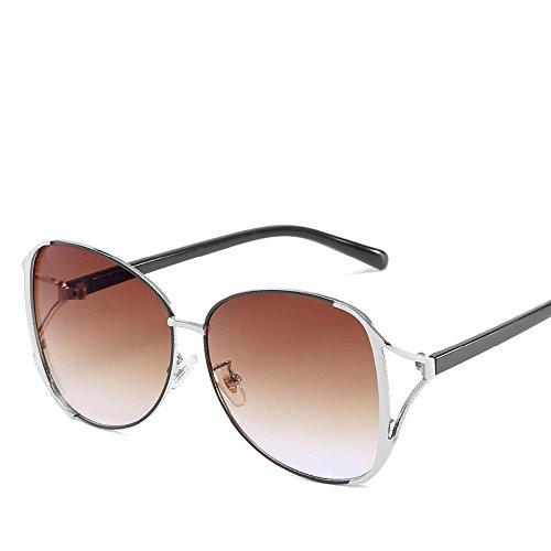 Axiba Sonnenbrillen Mode Metal Spektakel Frame Ozean Gradient Sonnenbrille Anti-UV-Sonnenbrillen Kreatives Geschenk