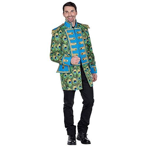 Pfau Kostüm Herren - PARTY DISCOUNT® Herren-Kostüm Pfauen Jacke, Gr.