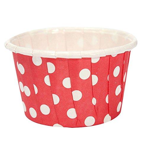 TOOGOO 20pcs emballage en papier de gateau a coupe de Muffin etuis de Dessert coupe de cuisson rouge