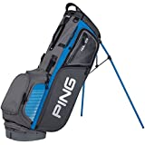PING 2018 HOOFER CARRY GOLF BAG GREY-BIRDIE BLUE (Grey-Birdie Blue)