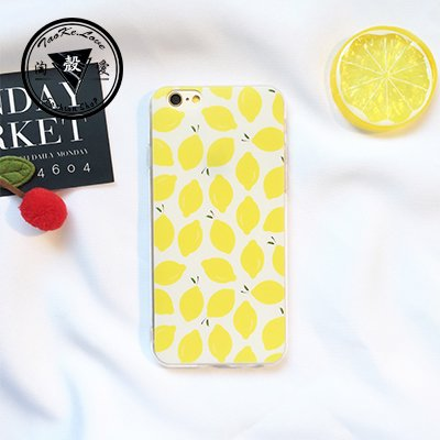 Dkang High Quality Fruit Cherry Lemon Watermelon Strawberry Pattern Series TPU Slim Fit Case For iPhone 6/6S Plus 5.5