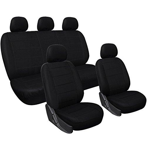 WOLTU AS7313 Coprisedili Universali per Auto Camion Set Completo di Coprisedili Protezione per Sedile di Poliestere Nero