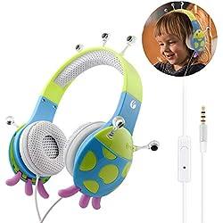 VCOM Auriculares para niños INSECTO - Varios diseños/colores
