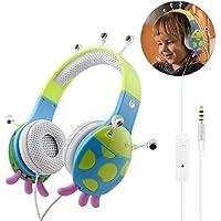 VCOM Auriculares para niños con micrófono, Chirdren Friendly cómodo niños niñas música Auriculares con limitación