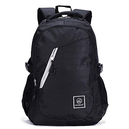 LJWLCH Schultasche Rucksack Junge Ultra Licht Wasserdicht 9-15 Jahre Alt Gymnasiast Campus 4-6-9 Klasse Grundschüler Große Kapazität Reisetasche Rucksack,White-OneSize
