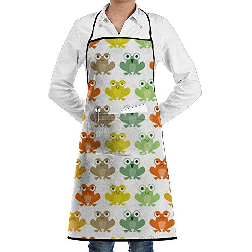 hürze,Frog Animal Aprons for Women/Men Gag Gift BBQ Cooking Cloth Chef Apron ()
