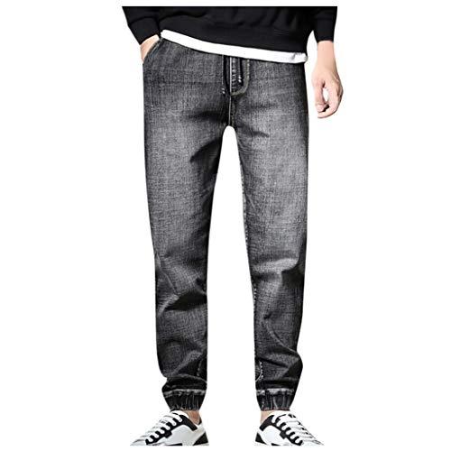 Lässige Lochjeans für Herren Lange Hose Loose Fit Baumwolle Stretch Denim Jeans in übergrößen Herren Arbeitshosen Jeanshose Komfortable Retro Straight-Cut Gerades Bein Freizeithose Sporthose