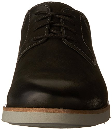 Bostonian Mens Pariden Plain Oxford Black Nubuck/Grey