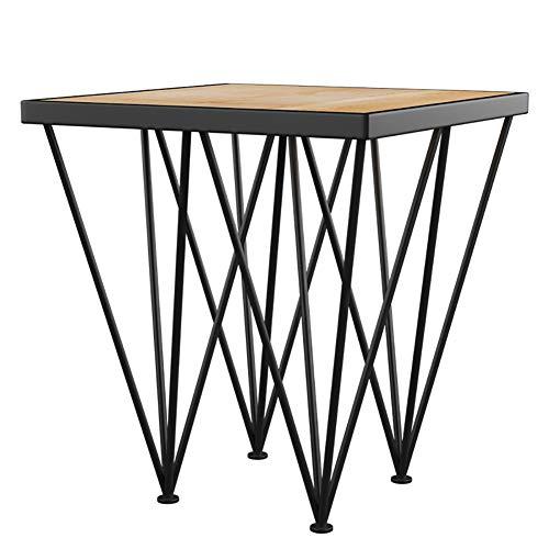 Massivholztisch, Holzfarbe Schmiede Einfachen Eisennachttisch Wohnzimmer Hotel Studie Persönlichkeit Tisch Kreativ Couchtisch
