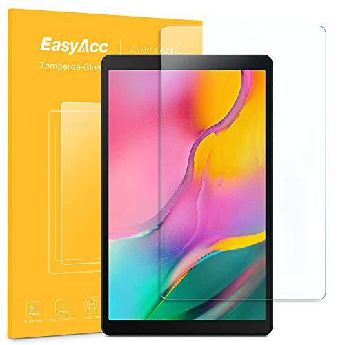 EasyAcc Schutzfolie für Samsung Galaxy Tab A T510/ T515 10.1 Zoll, Glas Folie Panzerfolie Klar Anti-Kratz Bildschirmfolie - 9H Hardness aus gehärtetem Glas