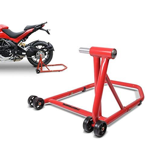 ConStands Single Béquille d'atelier pour Ducati Monster S2R 1000 06-08 Rouge, Monobras Adaptateur Inclus