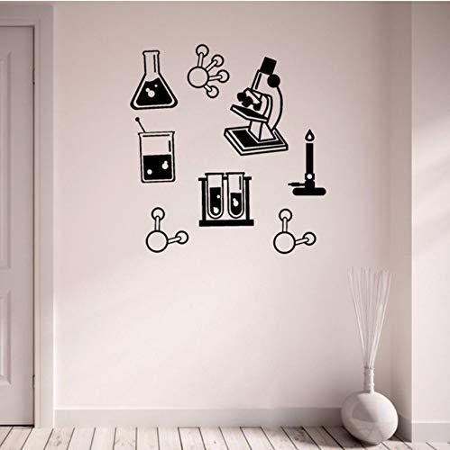 Lvabc 42X45 Cm Wissenschaft Bundle Vinyl Wandaufkleber Chemie Klassenzimmer Wasserdichte Dekoration Mikroskop Wandkunst Aufkleber Diy Lehrer Aufkleber