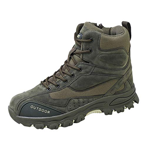 MISSQQScarponi Trekking Uomo, Stivali da Escursionismo Alti Scarpe da Trekking Impermeabili da Uomo