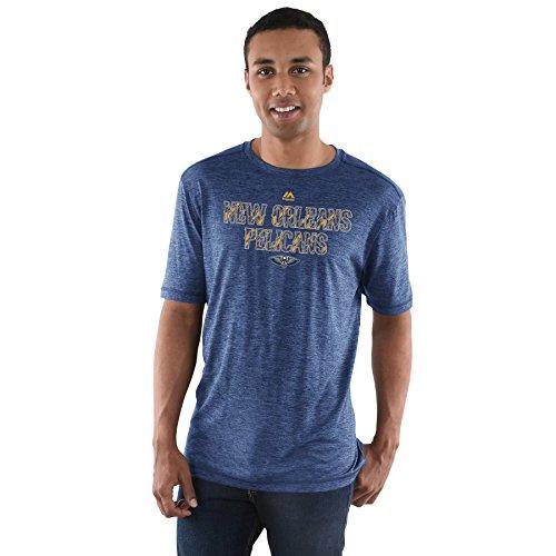 Majestic NBA Herren Zukunft Highlight Play Performance T-Shirt (Klein, New Orleans Pelikane)