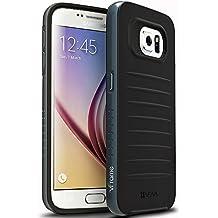 Samsung Galaxy S6 Funda - Vena [vFrame] Marco de aluminio ultra delgado de híbrida caso para Samsung Galaxy S6 (Gunmetal)