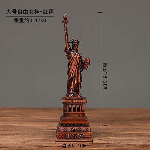 ahliwei Europäische Retro-Zink-Legierung Kostenlose Göttin Metal-Dekoration Zu Hause Desktop-Dekoration Große rote Kupferfarbe
