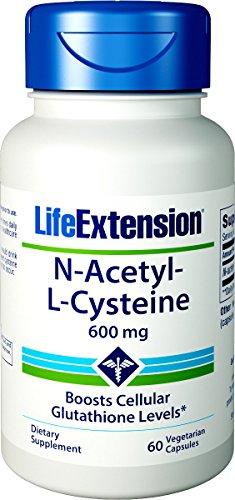 Life Extension | N-Acetyl-L-Cystein | 600 mg | 60 vegetarische Kapseln -
