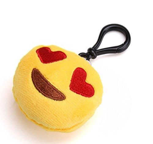 flintronic Llavero de Emoji  Set de 18pcs Emoji Peluche Whatsapp Suave y Carini  Ideal para la Decoración de la mochila  Bolso  ect de los bolsos de la aptitud. Regalo Perfecto  Regalo para Niños (18 Piezas)