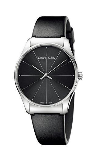 Calvin Klein Reloj Analógico para Mujer de Cuarzo con Correa en Cuero K4D211CY