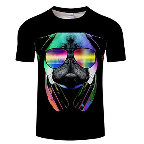 Ywfzzxs T-Shirt 3D Tops Mode-T-Shirts Unterhemden Kurzarm Unisex Neuheit Kostüm HD Anime Druck Shar Pei