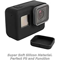 micros2u GoPro HERO, HERO 7, 6, 5 Soft Silicone Compatible Case Cover Protective Lens Cap. Skin Protector against Dirt, Dust and Scratches!