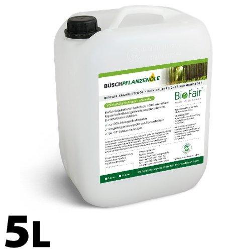 BioFair Sägekettenöl (5 Liter) aus 100% reinem Rapsöl-Vollraffinat