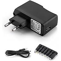 Aukru 5v 2a EU fuente de alimentación universal con 8 conexiones de enchufe para varios dispositivos para electrodomésticos / Enrutadores / Altavoces / LCD / Cámaras de CCTV / TV Box