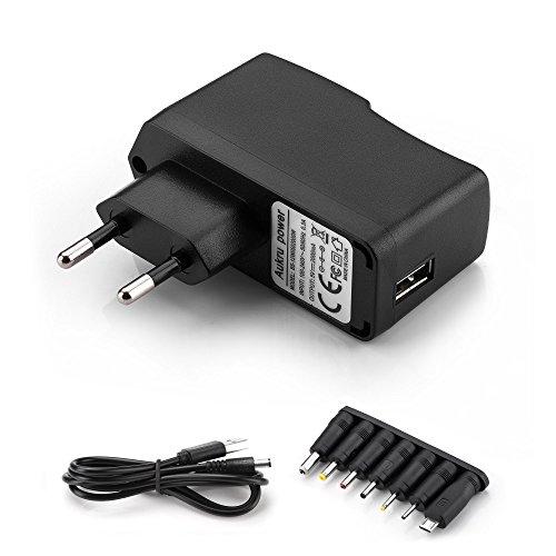 Aukru 5v 2a EU Fuente de Alimentación Universal con 8 Conexiones de Enchufe para Varios Dispositivos para electrodomésticos/Enrutadores/Altavoces/LCD/Cámaras de CCTV/TV Box