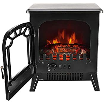 Electric NETTA Stove Heater With Flame Effect Free Standing … 2000w White