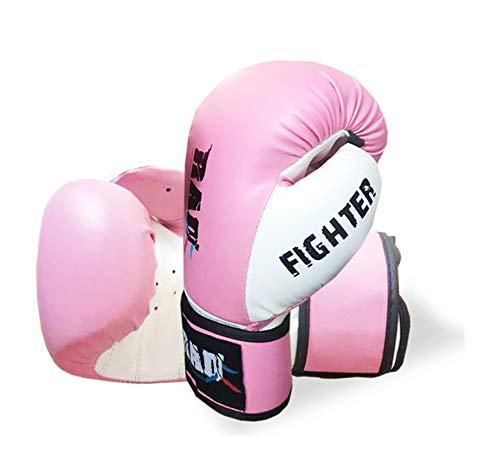 Rad - Guantoni da Boxe per Bambini, per Muay Thai, in Pelle Sintetica, per Allenamento, Sacco da Boxe, Kickboxing, 113,4 g, 177 g, 226,8 g, Colore: Rosa