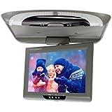 Tirón abajo Monitor de 9 pulgadas DC 12V 800 * 600 resolución TFT LCD de arriba de la pantalla digital del coche del monitor 2 Entrada AV montaje en techo monitor Gris