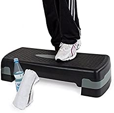 Aurion AEROBICSTEP777 Adjustable Aerobic Stepper (Black)