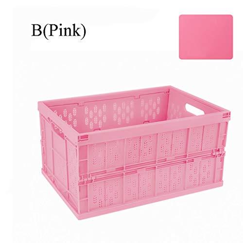 fferräume Haltbare Aufbewahrungsboxen aus Kunststoff für Koffer und SUV, Autos, Fahrzeuge, Wohnmobile, Reise- und Camping-Lagerkästen. (Farbe : Pink-B) ()