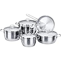 Korkmaz Stainless Steel Cookware Set 9pcs, A1900