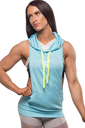 Jed North Women's Workout Stringer Hoodie Tank Top Shirt
