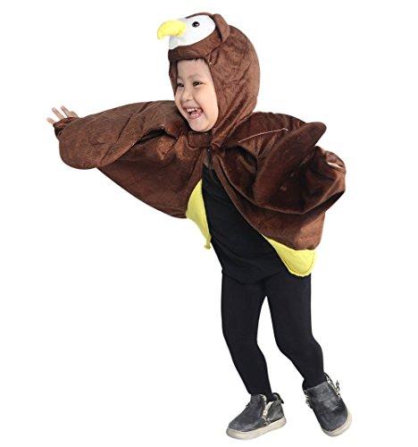 Eulen-Kostüm, An79/00 Gr. 74-98, als Umhang für Klein-Kinder und Babies, Eulen-Kostüme Fasching Karneval Fasnacht, Karnevalskostüme, Kinder-Faschingskostüme, Geburtstags-Geschenk Weihnachts-Geschenk