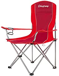 KingCamp ligero marco de acero robusto sillón de Camping Picnic al aire libre Pesca (Rojo)