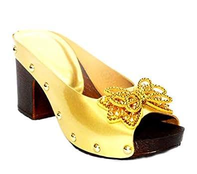 9492dd7c54c ... Women s Shoes · Fashion Slippers  M-B-M 1627 Women Golden Broad Heel  Open Toe Party WEAR Slipper.