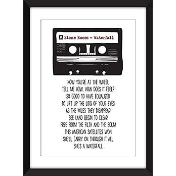 Stone Roses Waterfall Lyrics Unframed Print/Ungerahmter Druck
