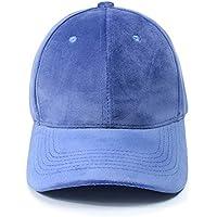 Gorros Gorro De Sombreros Gorras Calentar Cálido Unisex Beanie Casquillo Cómodo Casual del Color Sólido del Terciopelo del Otoño Y del Invierno ZHANGGUOHUA (Color : Azul Claro)