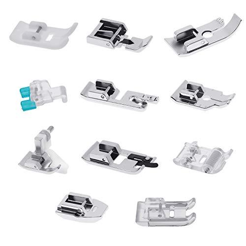 11 Stück Multifunktions Nähfuß, Nähfüsse, Zubehör Set für Nähmaschine -