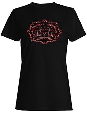 Logotipo De La Insignia Del Cuidado De La Caridad camiseta de las mujeres o454f